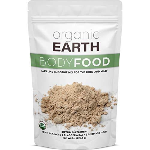 Organic Earth Irish Sea Moss Powder (8 Ounces) Super Cell Body Food - Wildcrafted Irish Sea Moss...