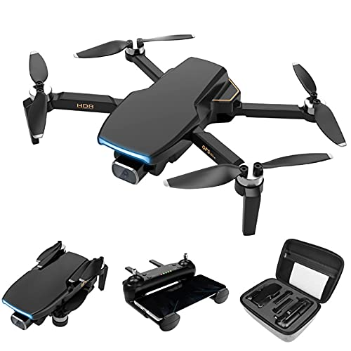 GACYSMD GPS Drone con Drone Brushless Video RC 5G FPV con PTZ. Telecomando Aeromobile Doppia Camera 4K Fotocamera A Quattro ASSE HD Aerei per Fotografia Aerea per Adulti Bambini Professionali