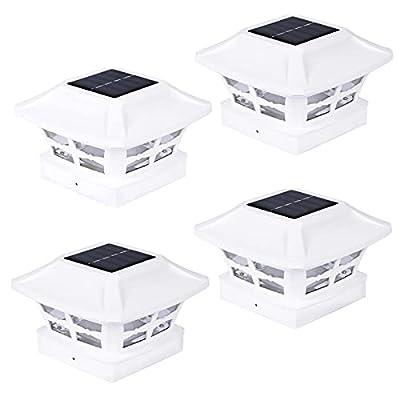 Amazon - 50% Off on Solar Post Light Outdoor, Waterproof Post Cap Lights Solar Powered for 4×4 inch Vinyl