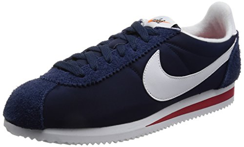 Nike Classic Cortez Nylon Prem, Zapatillas de Deporte Hombre, (Midnight Navy Whitevarsity Red), 42.5 EU