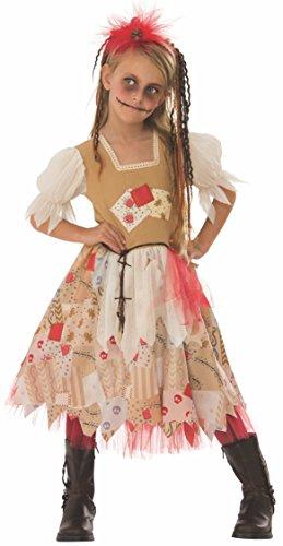 Rubies- Disfraz Voodoo Girl Inf, Multicolor, L (8-10 años) (641246)