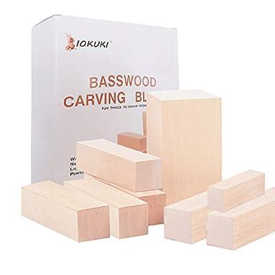 Basswood Carving Blocks Kit,11 Pieces Large Woo...