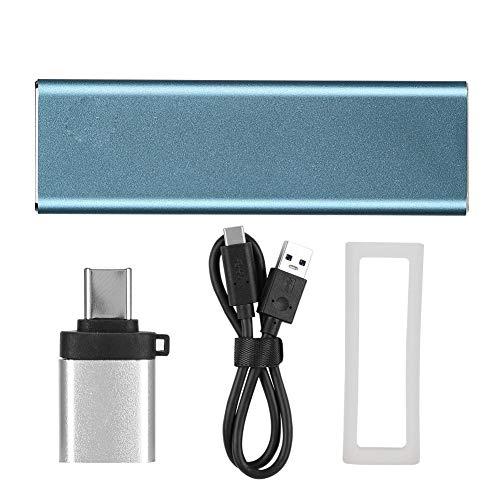Disco Duro SSD móvil Gen1 NGFF Type-C, Disco Duro portátil Compacto de Estado sólido de 1TB con Funda de Silicona Cable USB-C Cable de Datos(128GB)