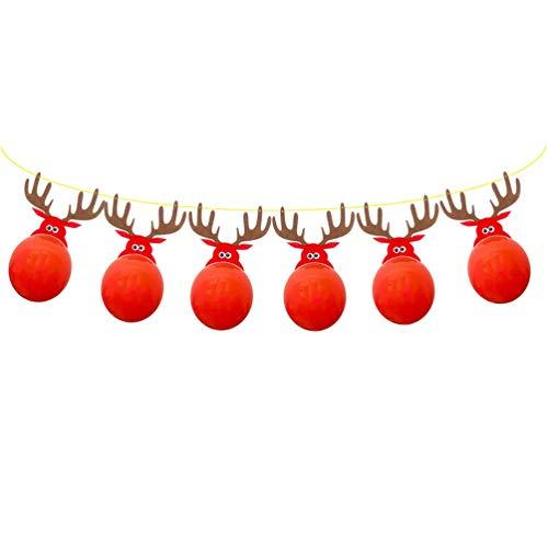 Kerstmis Banner Reindeer Banner met luchtballonnen kerstboom Banner Elk hangen Garland foto-steun voor kerstfeestdagen party-decoratie Elise