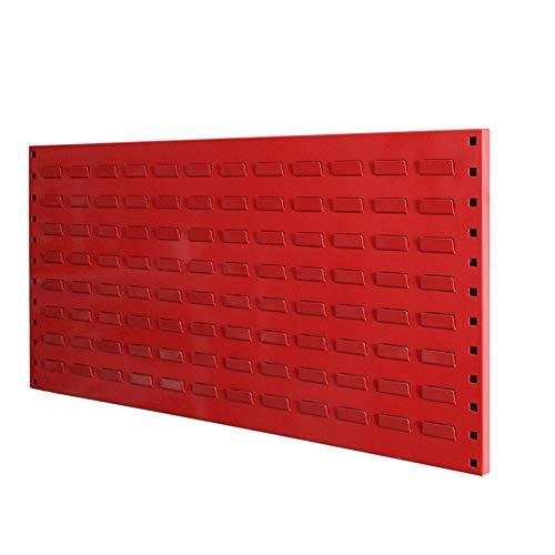 Metal Peg Boards Wall Tool Shelf Storage Rack Pegboard Shelves Organiser Shed Garage Workshop (Color : Red, Size : 90x45cm)