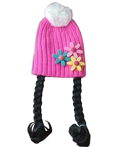 [Tournesol Rose] Cute Girl bébé Bonnet enfants Cap avec Braids