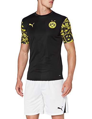 PUMA Herren BVB Stadium Jersey T-Shirt, Black-Cyber Yellow-Away, M