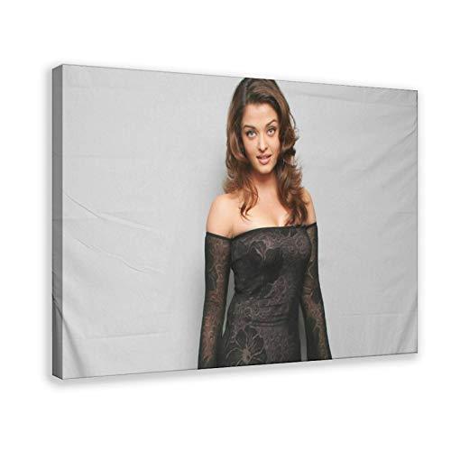 Aishwarya Rai (Aishwarya Rai) Film And Television Star Attrice Art Director Attrice Eccellente Modello Ornamento Poster Regalo 6 Poster Tela Arte da Parete Stampa Dipinti per Soggiorno Camera Da Letto