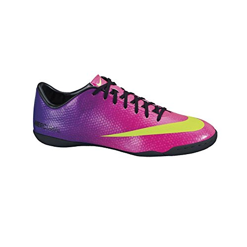 Nike Tenis para FUT 7 para Hombre simipiel Morado con Amarillo 555614635 28.5