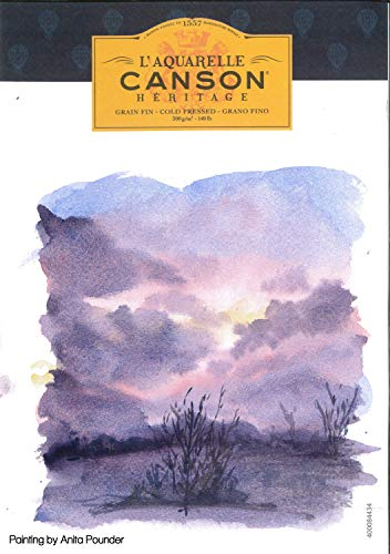 2 x Canson Heritage - 640gsm - 1/2 Imperial (56x38cm/22x15') - NOT