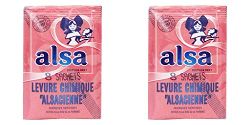 Alsa - French Cake Baking Powder, 0.38 Ounce, 8 Count Pack of 2