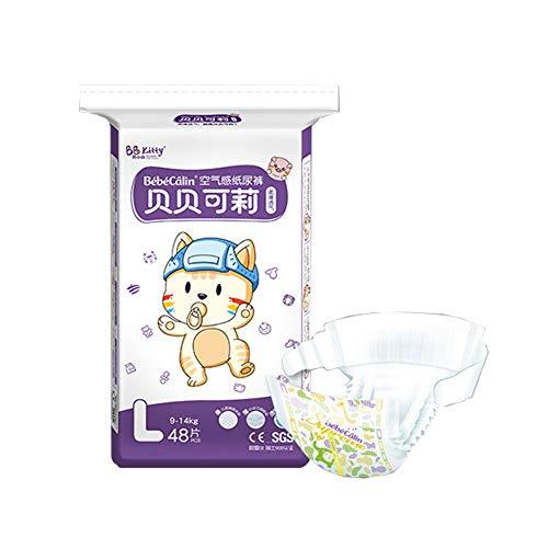 SXJC Premium Protection Pants Baby-Dry Höschenwindeln Superdünne Atmungsaktive Windeln Mit Maximalem Schutz(4-17+ Kg),L