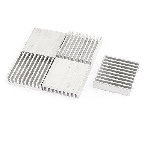 DealMux 5 Piezas de 30 x 30 x 8 mm de Plata del Tono del disipador de Calor Radiante de Aluminio del refrigerador de Fin