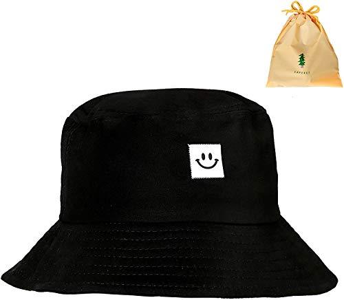 NvWang Fischerhüte,Bucket Hat Baumwolle Unisex Faltbar Anglerhut 56-58cm Sonnenhut zum Jagen Wandern Camping Reisen Angeln mit Aufbewahrungstasche