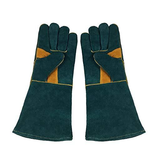 WANGLXST lederen BBQ handschoenen, extreme hittebestendige oven handschoenen, lassen handschoenen voor open haard Forge Forge Grilling Barbecue Pot Houder Keuken Koken