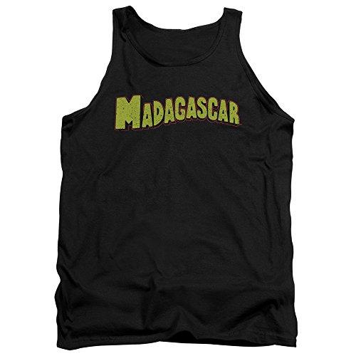 Madagascar - - Logo Hommes Débardeur, Small, Black