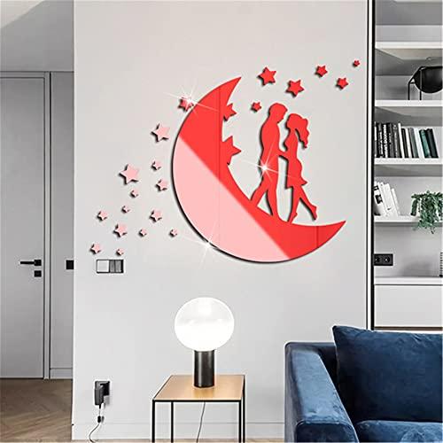 Etiqueta de la Pared del Espejo Amor pareja acrílico espejo pegatina de San Valentín Día de San Valentín Etiqueta Etiqueta Etiqueta Etiqueta de Pared DIY DIY Hogar Art Mural Decor Removab para la Pare