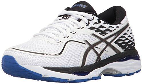 ASICS Zapatillas de correr Gel-Cumulus 19 para mujer, blanco (blanco/negro/azul morado), 44.5 EU