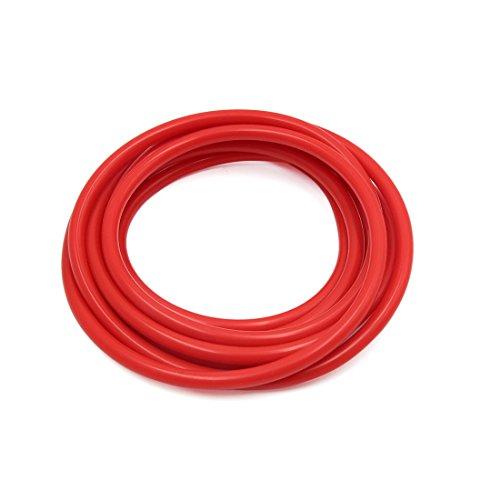 sourcing map 3 metre longueur 3 x 7mm rouge silicone résistante à chaleur flexible aspiration Tuyau tube pour voiture