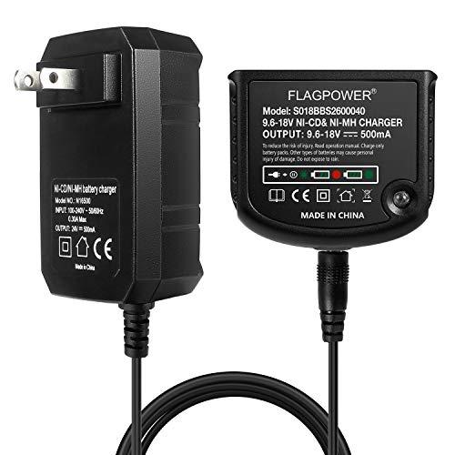 FLAGPOWER 9.6V 12V 14.4V 18V Replacement Charger for Black and Decker 18V NiCad & NiMh Battery HPB18 HPB18-OPE FSB18 HPB14 FSB14 HPB12 FS12B HPB96 FSB96 …