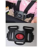 Black 5 Point Harness Buckle Clip Replacement Part Seat Safety for Chicco Urban 6-in-1 Modular Stroller for Babies, Toddlers, Kids, Children