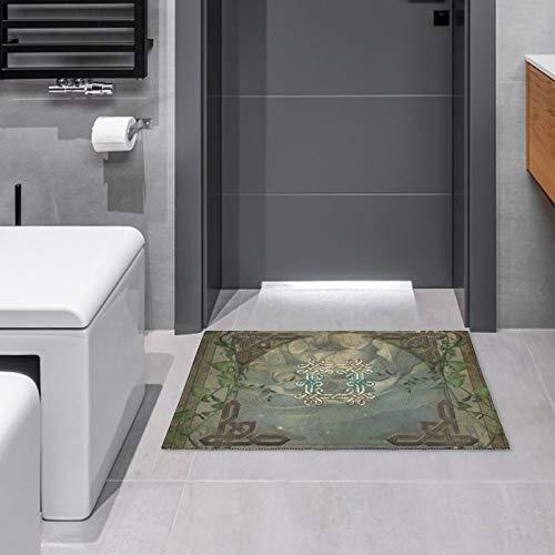 Indoor/Outdoor Doormat Wonderful Decorative Celtic Knot Door Mats Bathroom Kitchen Decor Area Rug Non Slip Entrance Door Floor Mats,15.7'x 23.6'
