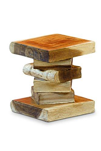 Kinaree houten bijzettafel boekenstapel mini