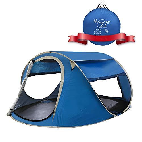 CHD Tienda de Campaña para Picnic en la Playa Portátil Instantánea Automática Emergente 2-3Personas Resistente al Agua Protección UV Refugio Solar Bolsa de Transporte Incluida,Azul