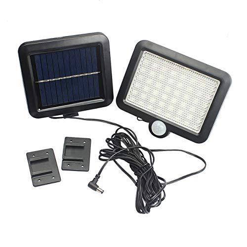 Ashley GAO 100LEDs energía solar al aire libre impermeable jardín valla patio seguridad PIR sensor de movimiento infrarrojo luz montado en la pared noche lámpara