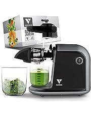 Vandenberg slow juicer - Stille sapcentrifuge voor groenten en fruit [150 W]- Vitaminevriendelijke elektrische sapcentrifuge met reverse functie -Inclusief reinigingsborstel
