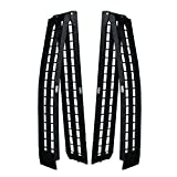 Titan Ramps Pair of 10 FT Folding Arch Ramps, Aluminum Frame, 1,200 LB Capacity, Safety Straps