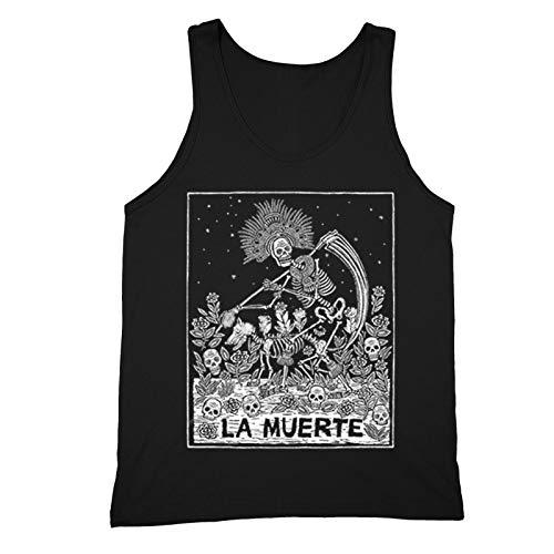 XtraFly Apparel Men's Loteria La Muerte Skull Mexican Heritage Tank-Top Black