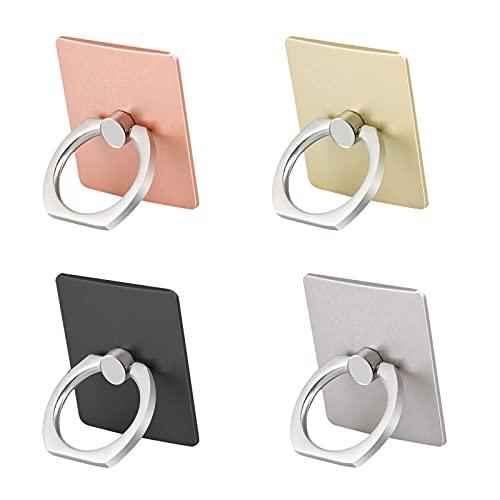 MiniY 4 titular de la plaza de teléfono celular anillo, un soporte del anillo giratorio de 360 grados, compatible con todos los tipos de teléfonos móviles y teléfonos inteligentes.