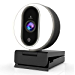 NexiGo Streaming Webcam with Ring Light and Dual Microphone, Advanced Auto-Focus, Adjustable Brightness with Touch Control, 1080P Web Camera for Zoom Skype Facetime, PC Mac Laptop (Renewed)