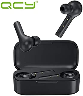 QCY T5 Wireless Bluetooth Earbuds, in-Ear Headphones Bluetooth 5.0 Stereo Earphones, Full Touch Control, Professional Gaming Earbuds, IPX5 Waterproof, 25 Hours Playtime, Noise Cancelling Built-in Mic