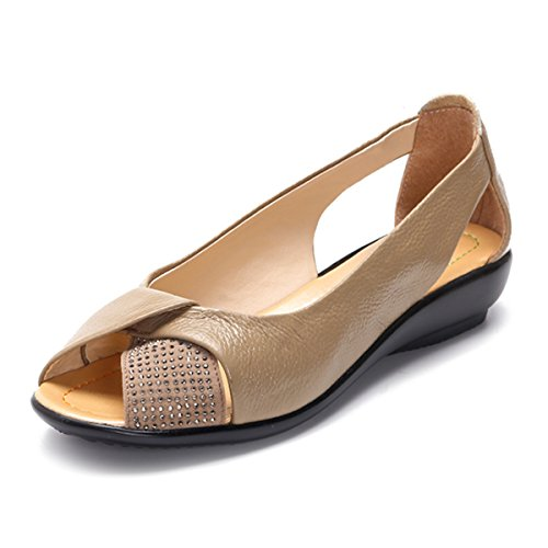 Socofy Sandales Femme, Chaussures de Ville Été en Cuir à...