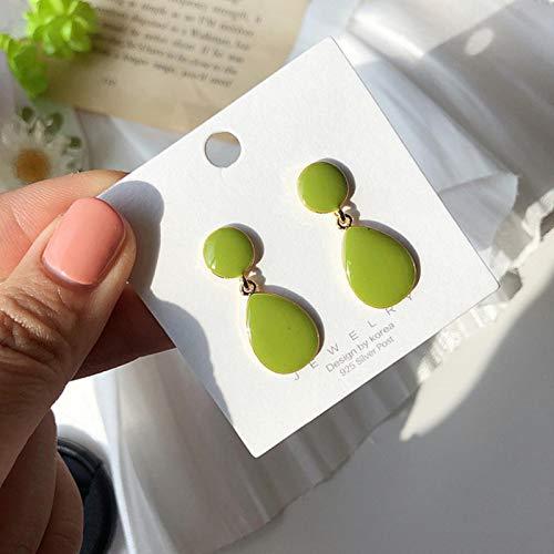 LIUL Pendientes Colgantes geométricos Verdes Coreanos, diseño múltiple, Flores, Resina, acrílico, Pendiente Colgante, joyería