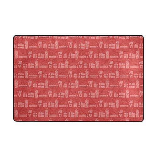 DEZIRO Fußmatte mit Papierhintergrund aus Polyester, Rutschfest, waschbar, Rot, Polyester, 1, 72 x 48 inch
