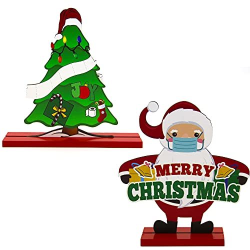 Table Decorations Room Decor Christmas Tree For Dinner Party Coffee Table Snowman Happy Holidays Centerpiece, 8.5in