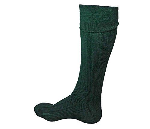 Scottish Kilt Hose - UT Kilts (USA Men's Shoe Size 7-9.5, Dark Green)