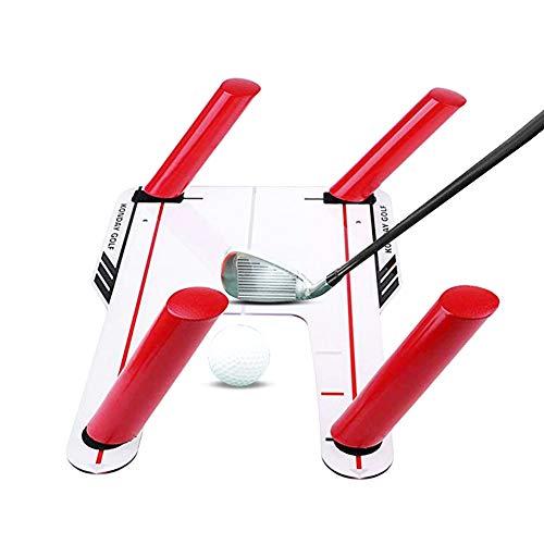 HAOXIU Swing Trainer - Soporte para entrenamiento de swing de golf, base acrílica y cañas de 4 vías
