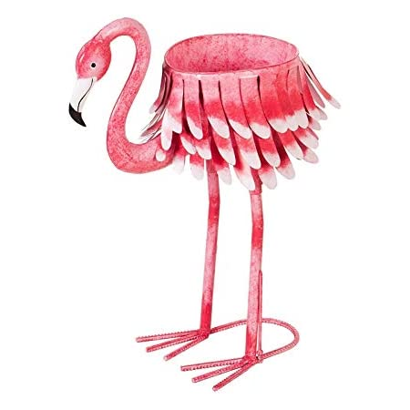 Ready to Fly Pink Flamingo Planter