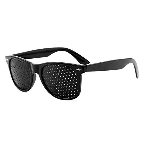 Grenhaven - Gafas estenopeicas/reticulares - para Mejorar la Vista - Negro
