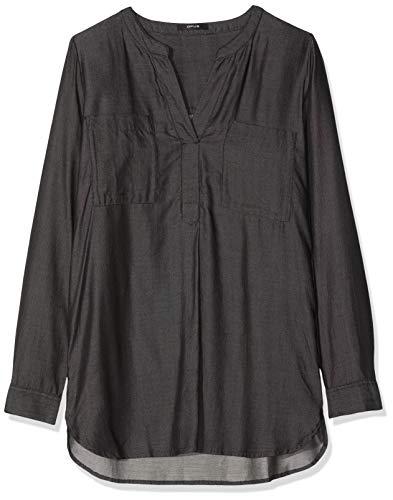 OPUS Damen Finnur Bluse, Grau (Dark Lyocell 7336), (Herstellergröße: 38)