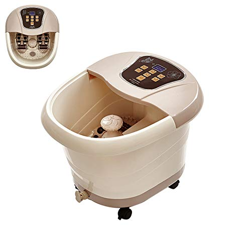 Review Of JIASHU Foot Bath Massager, Fully Automatic Foot Spa, with Heat Bubbles Vibration, Motorize...