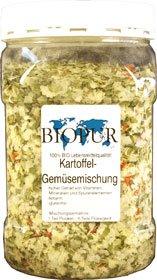 BIOPUR Complément Alimentaire Bio pour Chien à Pommes de Terre légumes Mélange Flocons, 1er Pack (1x 200g)