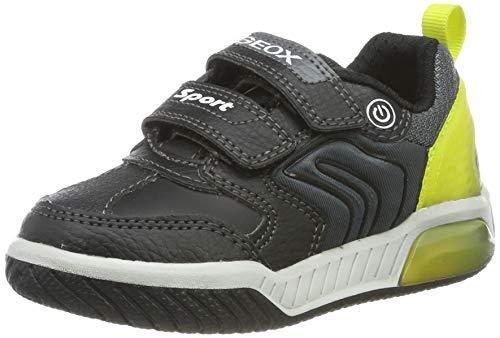 Geox J Inek Boy D, Zapatillas para Niños, Negro (Black/Lime C0802), 27 EU