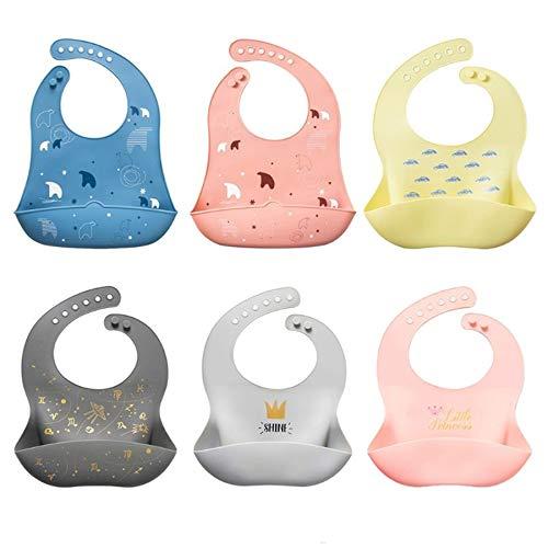 babero bebe,cojín antivuelco bebe,alimentación,bibs,3 uds bebé recién nacido babero de dibujos animados impermeable de grado alimenticio silicona alimentar saliva toalla ajustable delantal accesorio