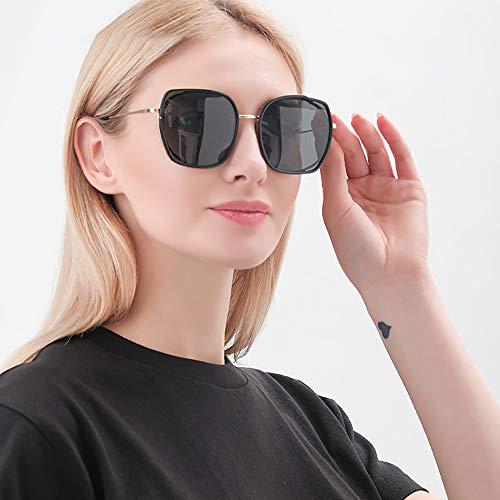 GUANGE Gafas de sol polarizadas para mujer, de gran tamaño, protección UV400, para conducir, ciclismo, golf, pesca, correr, vela, esquí, regalos para damas, color negro
