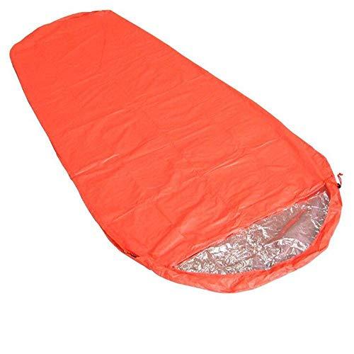 GSDJU - Saco de dormir de aislamiento térmico para acampar al aire libre, senderismo, camping, aventura, rescate de emergencia, manta doble para adultos